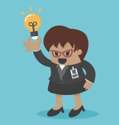 business woman big boss get an idea vector image