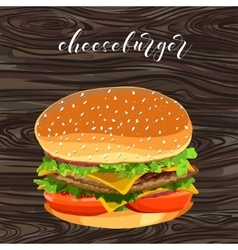 cheeseburger fast food vector image vector image