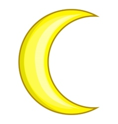 Crescent moon icon cartoon style vector image