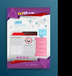 design template printing vector image