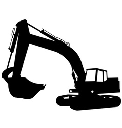 Excavator construction vector