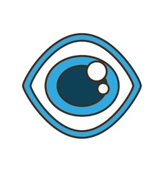 Eye view security symbol isolated icon vector