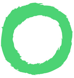 Green brushstroke circular shape vector
