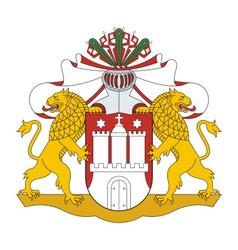 Hamburg Coat of arms vector image vector image