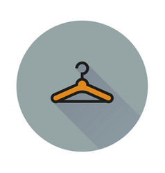 hanger icon on round background vector image