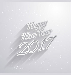 Happy new year 2017 text style on white background vector