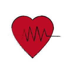 Heartbeat line heart cardio analysis medicine vector