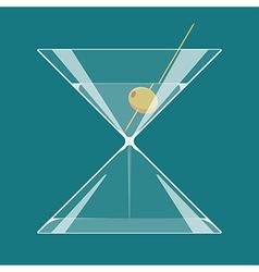 Martini hourglass vector image