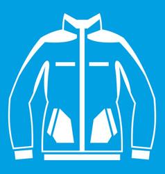 men winter jacket icon white vector image vector image