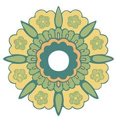 Ornamental round flower vintage pattern vector image vector image
