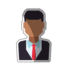 people faceless and business vector image