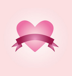 Ribbon heart vector
