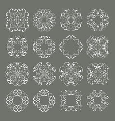 set collections of ornamental lacy designs vector image vector image