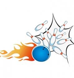 ten pin bowling vector image vector image