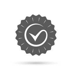Tick sign icon Check mark symbol vector image
