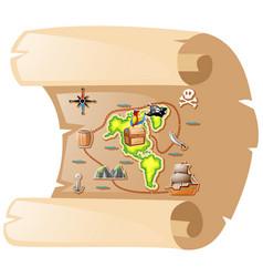 Treasure map on brown paper vector