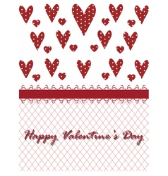 Valentines day lace heart vector
