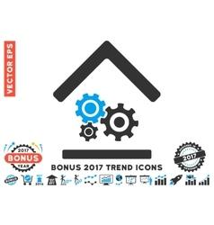 Workshop flat icon with 2017 bonus trend vector