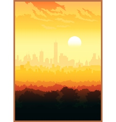 Scenic view of the city vector