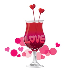 Valentines day love cocktail vector