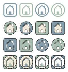 Home icon sign or symbol set vector image