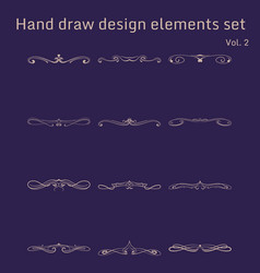 Bunch of simple and elegant design elements vector