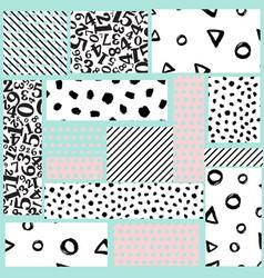 geometric card vector image