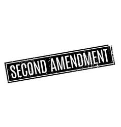 Second amendment rubber stamp vector