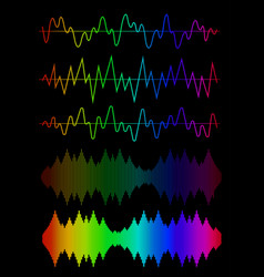Sound wave icon set vector