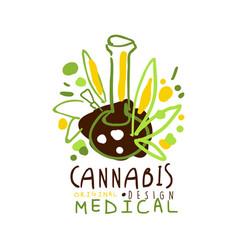 Medical cannabis label original design logo vector