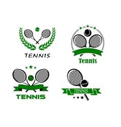Set of Tennis badges or emblems vector image