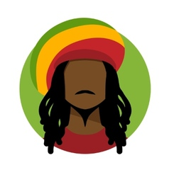 Rastafarian man vector image