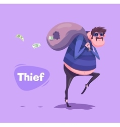 Funny thief character isolated vector