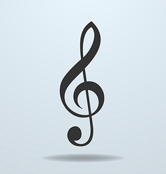 Icon of music clef or music note key vector