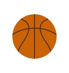 Basketball ball flat icon vector