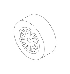 Car wheel icon isometric 3d style vector
