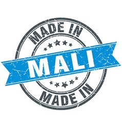 Made in mali blue round vintage stamp vector