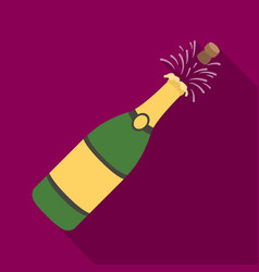 A bottle of champagne with a corkparty and vector