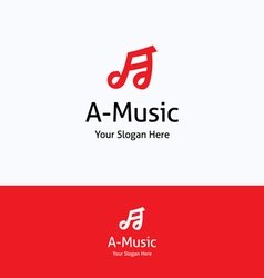 A-music note logo vector