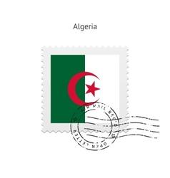 Algeria flag postage stamp vector