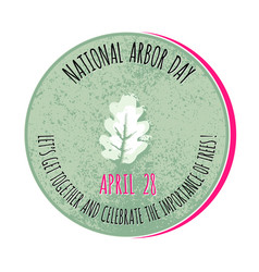 arbor day icon for promotio vector image