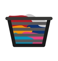 basket clothes isolated icon vector image