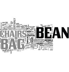 Bean bag chairs text word cloud concept vector