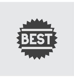 Best sale icon vector image