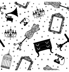 black vintage furniture vector image