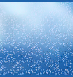 Blue background with circles modern design vector