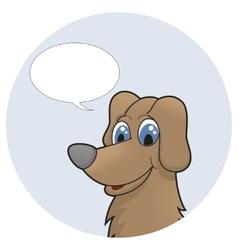 Cute cartoon puppy with speech bubble vector image vector image