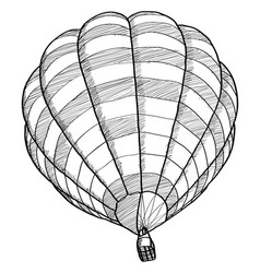 Doodle of hot air balloon sketch up line eps 10 vector