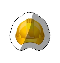 Dotted sticker safety helmet icon vector