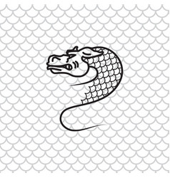dragon snake vector image